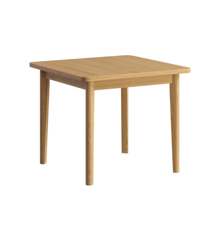 maly rozkladany nowoczesny stol drewniany