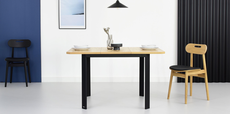 maly stol rozkladany w stylu industrialnym cm