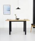 maly kwadratowy designerski stol rozkladany