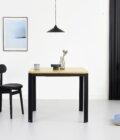 maly prostokatny stol debowy rozkladany