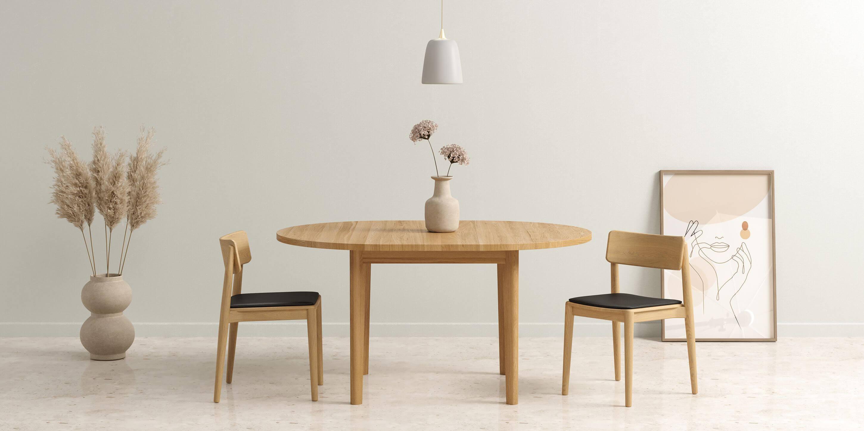 okragly stol rozkladany dab naturalny nowoczesny
