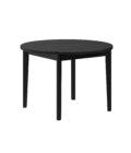 czarny drewniany stol okragly