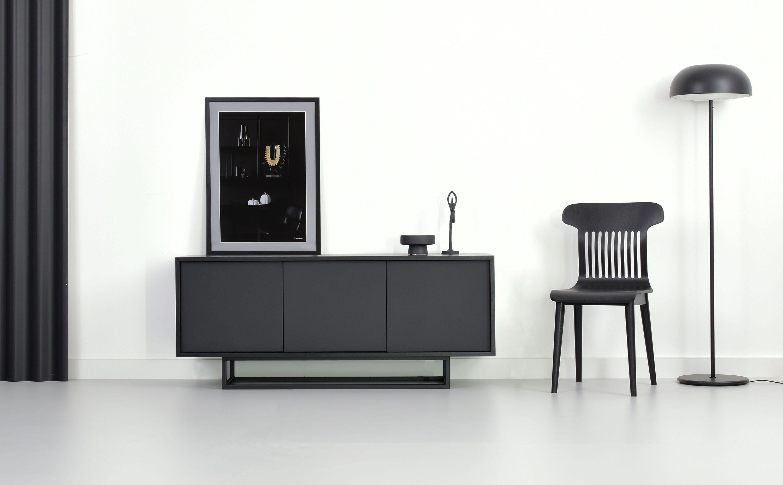 komoda szafka czarna minimalistyczna nowoczesna