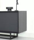 czarna szafka komoda nowoczesna