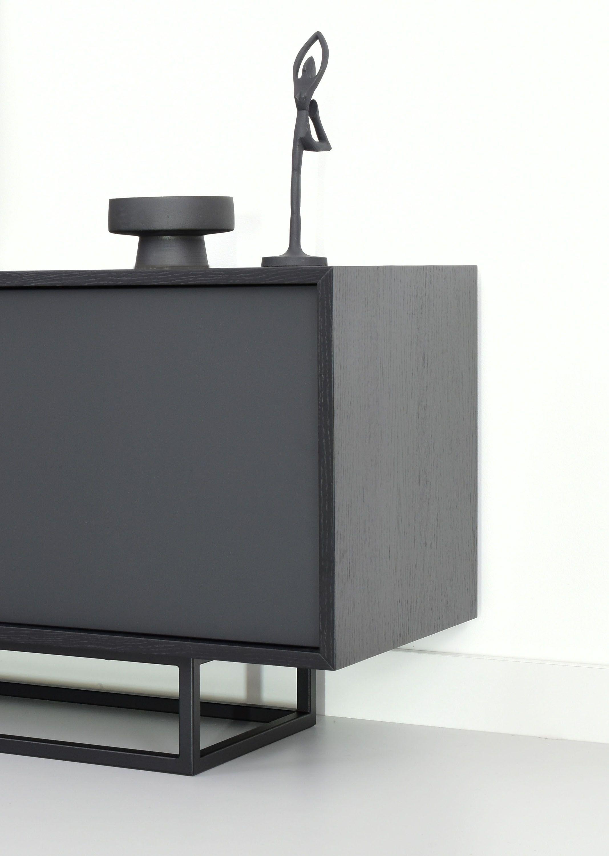 czarna szafka do salonu dąb czarny