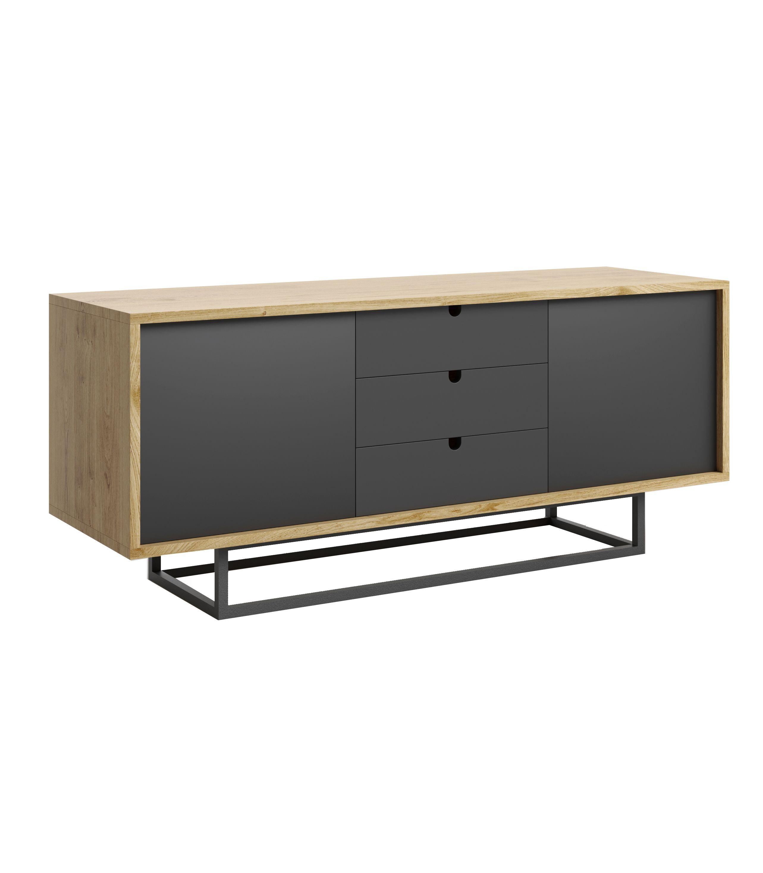 szafka do salonu nowoczesna czarna