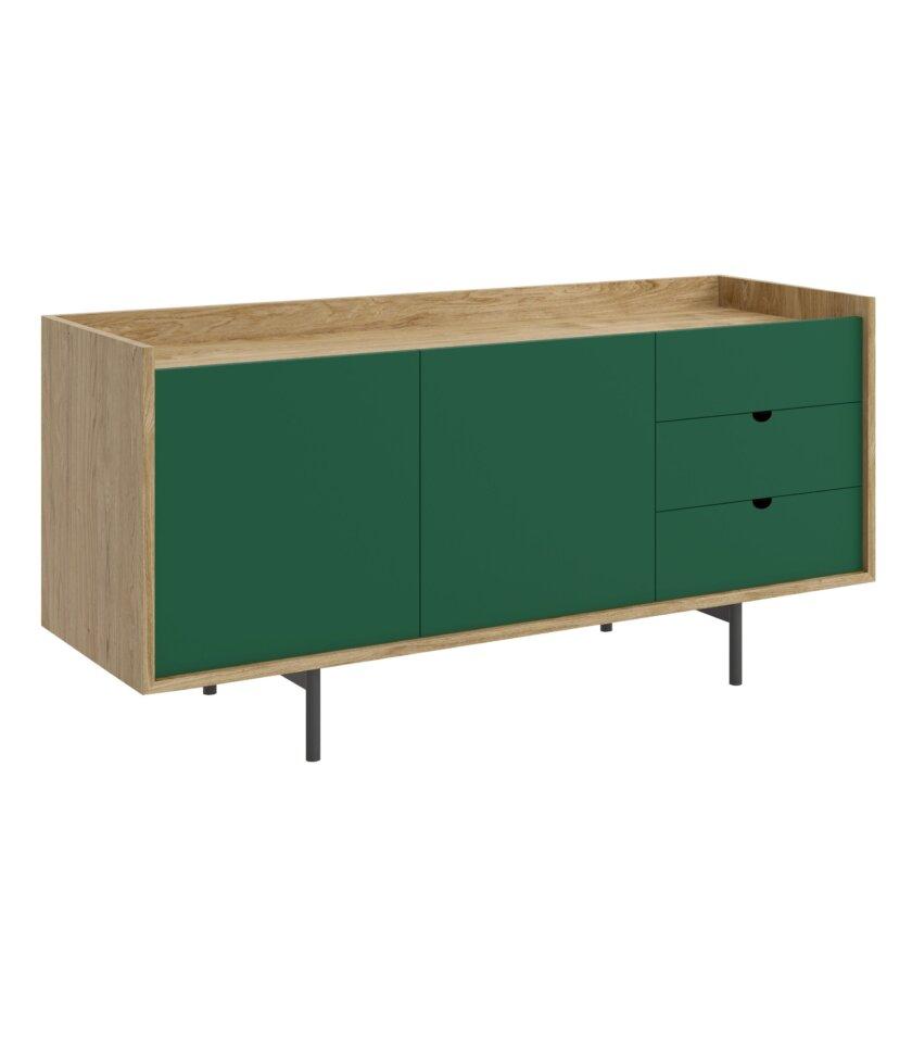 szafka z drzwiami pod telewizor zielona