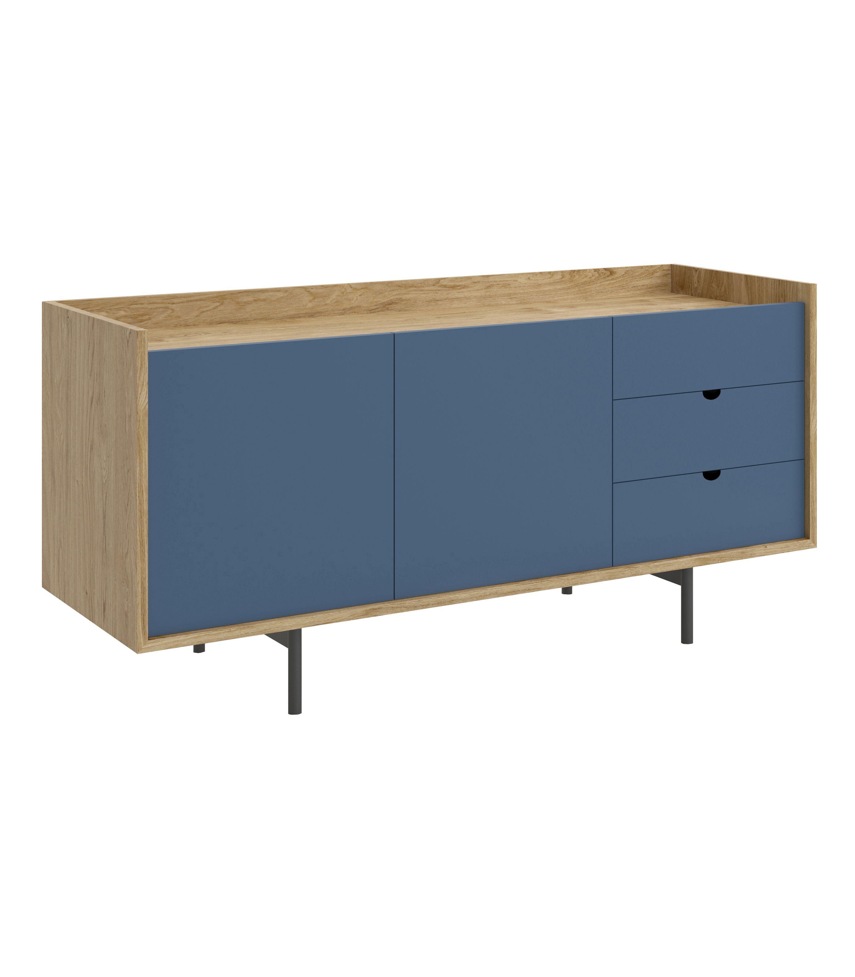 niebieska szafka w stylu skandynawskim
