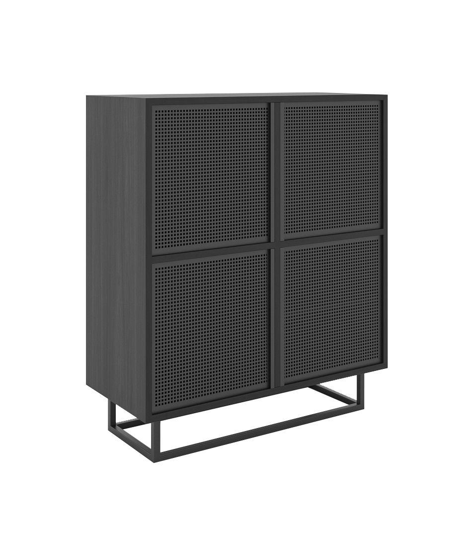 czarna szafka do salonu minimalistyczna