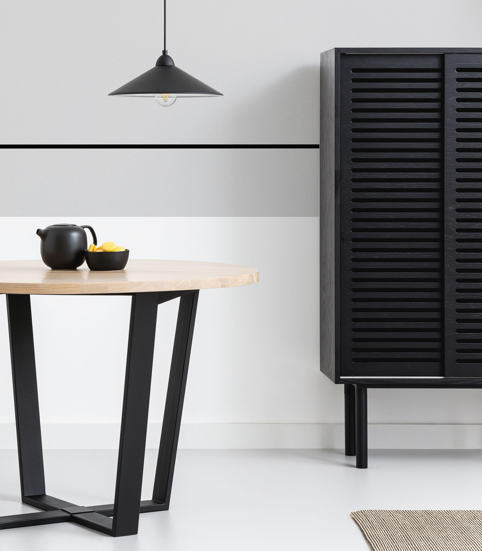 szafka minimalistyczna czarna wysoka