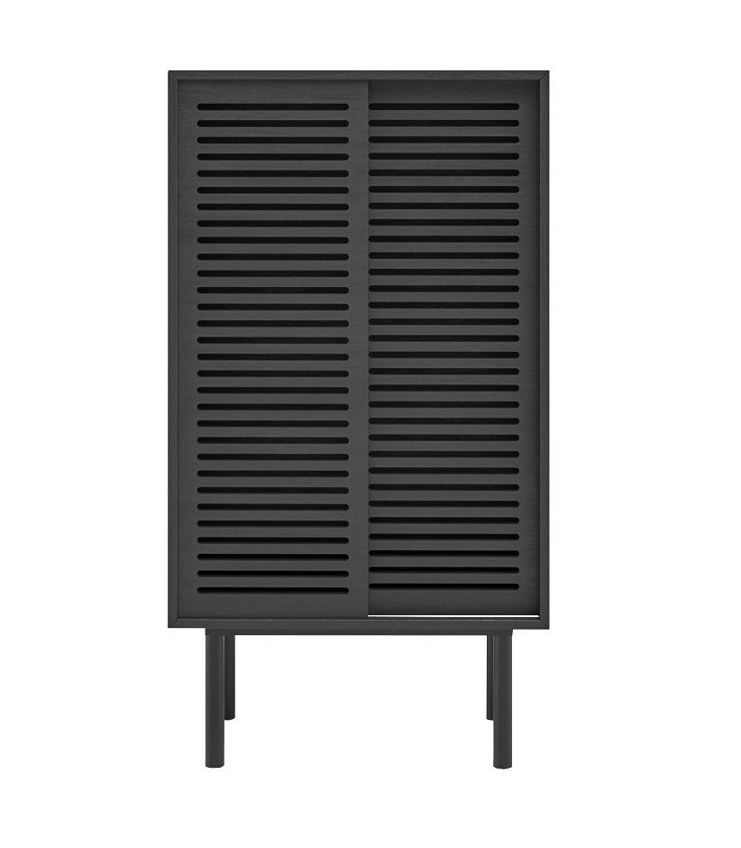 szafka w stylu japonskim debowa czarna przesuwane drzwi