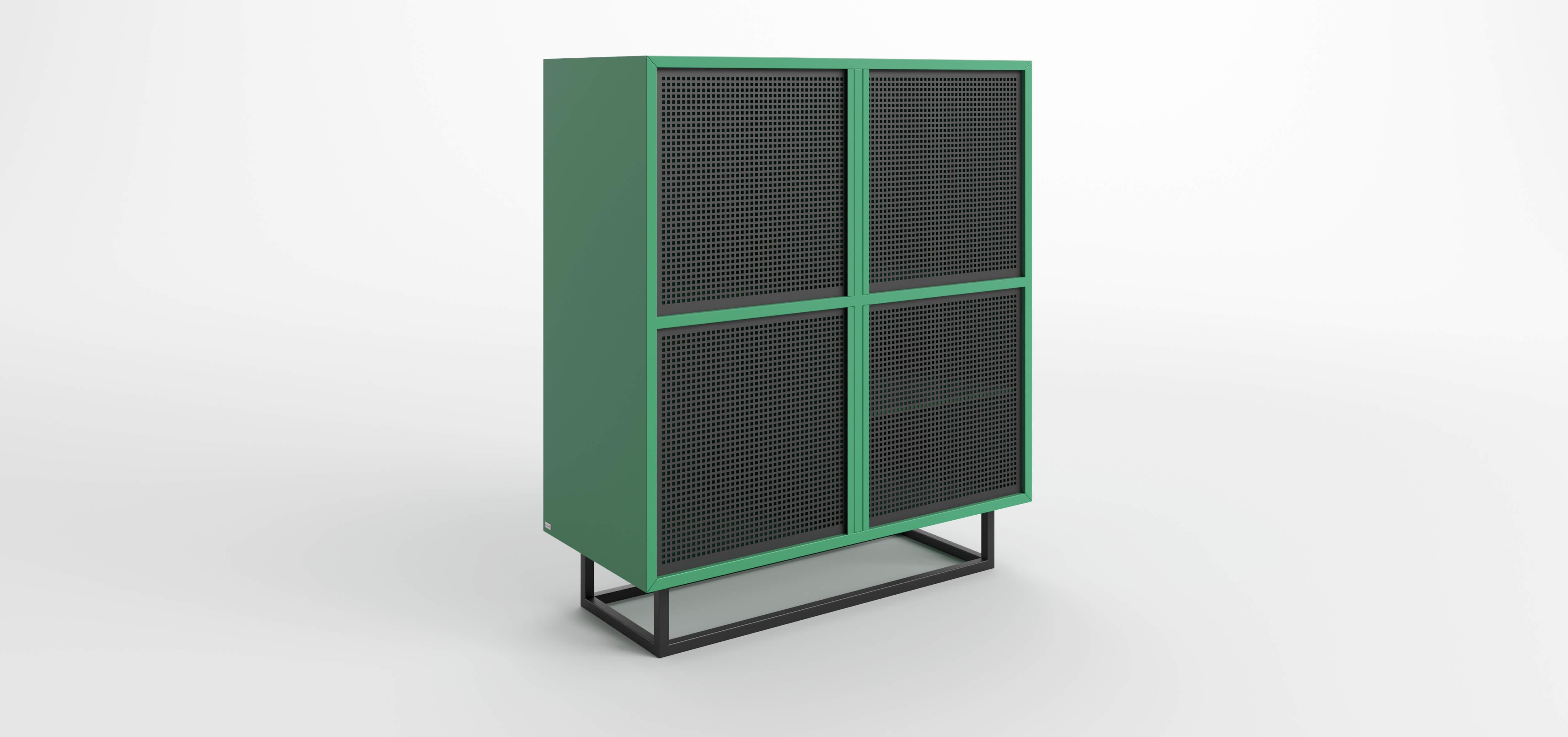 komoda nowoczesna zielona szafka
