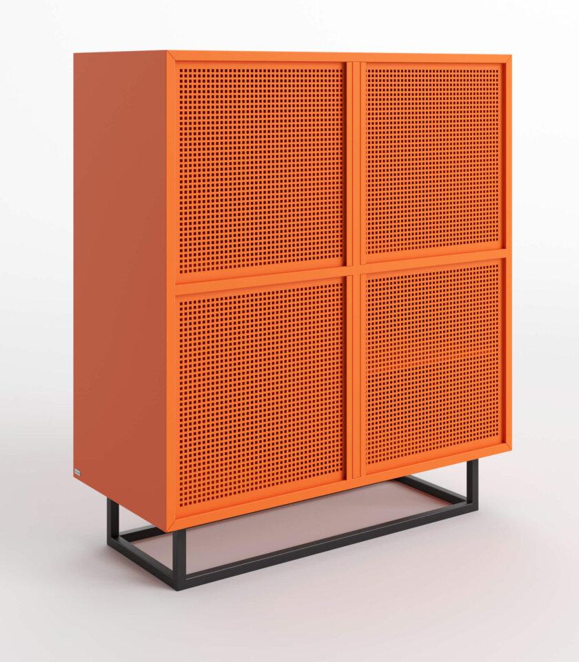 komoda nowoczesna pomaranczowa