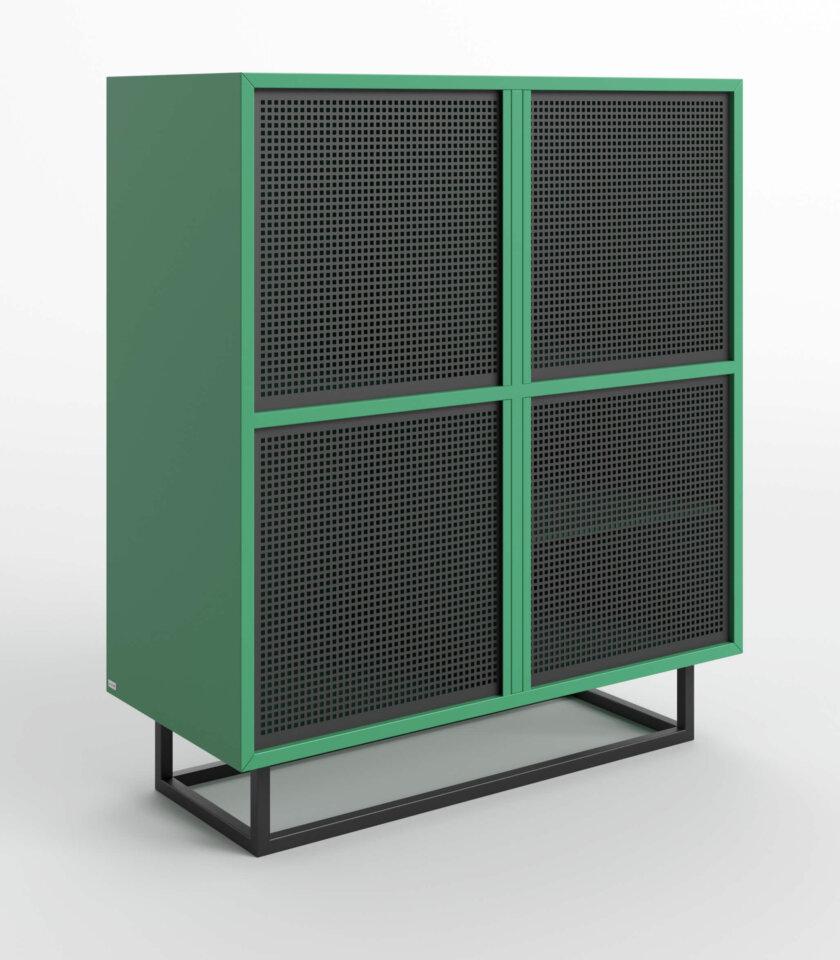 komoda nowoczesna zielono czarna