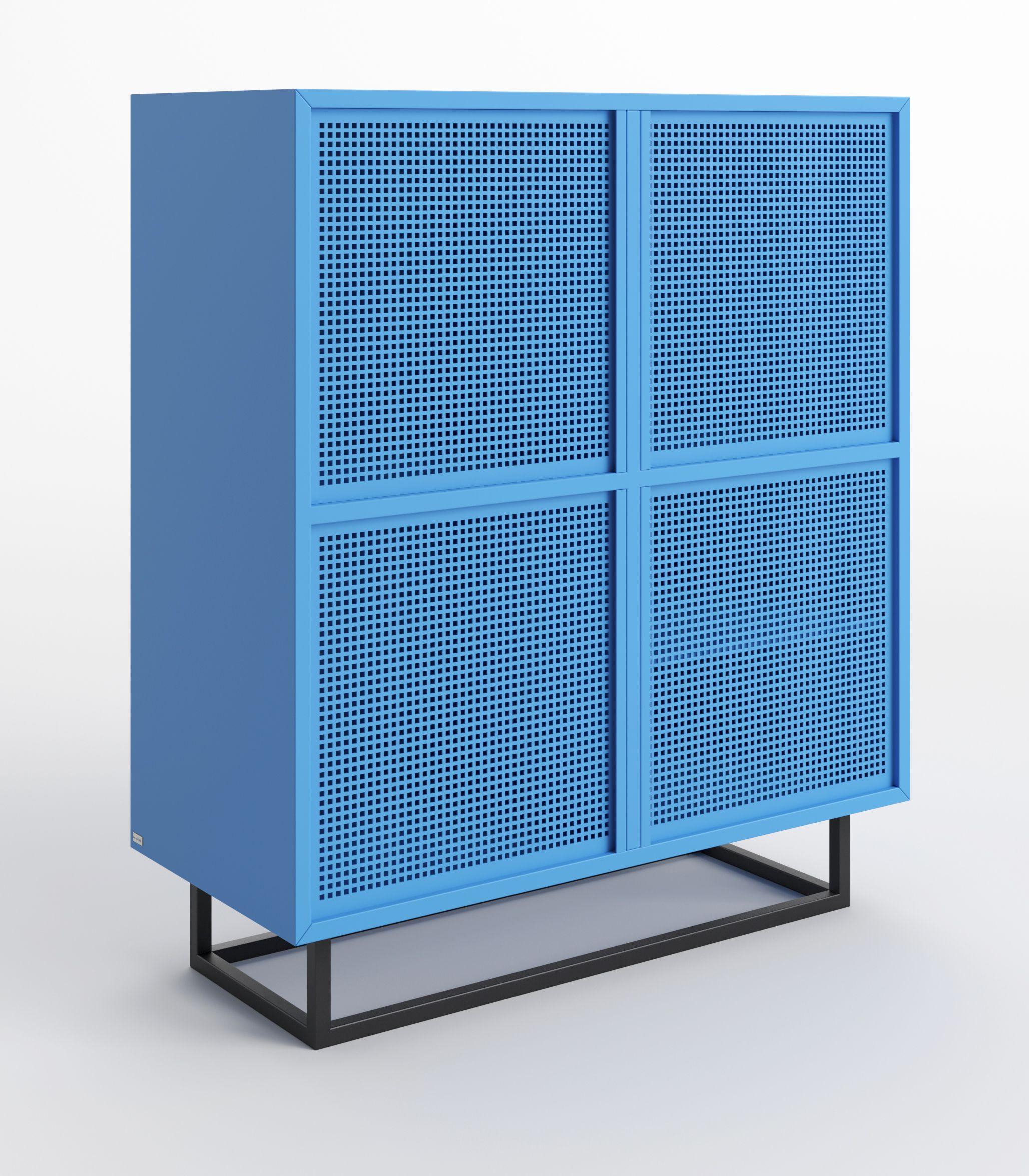 nowoczesna niebieska szafka do salonu