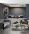 czarna sofa debowa skandynawski design