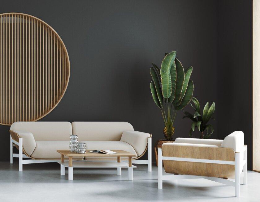 sofa dab naturalny do hotelu
