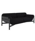 sofa czarna minimalistyczna elegancka