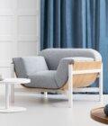 fotel tapicerowany minimalistyczny do poczekalni