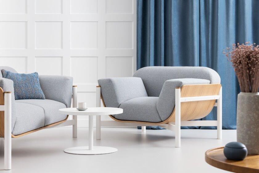 nowoczesny zestaw wypoczynkowy dab naturalny polski design