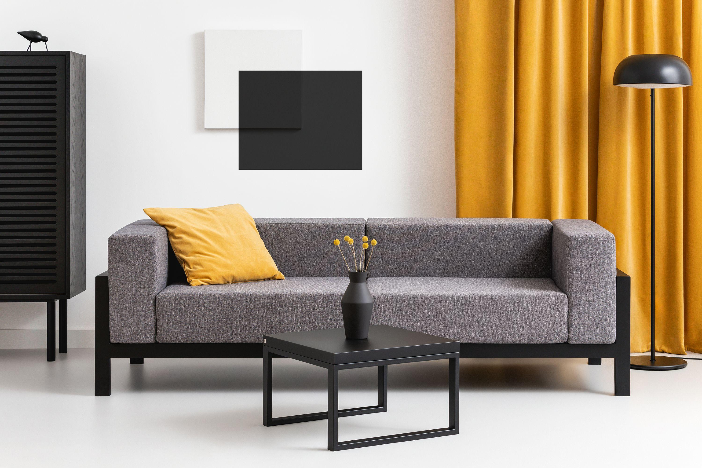 minimalistyczna sofa do salonu lub hotelu