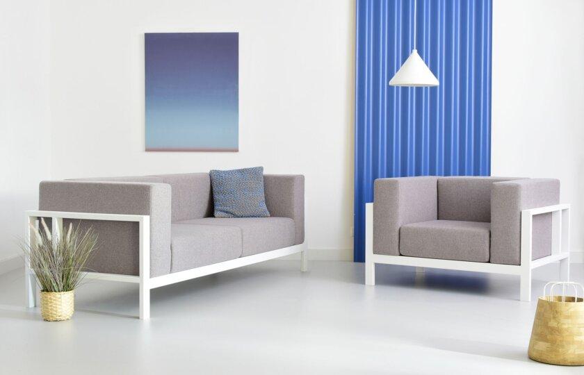 sofa stalowa loft industrialna