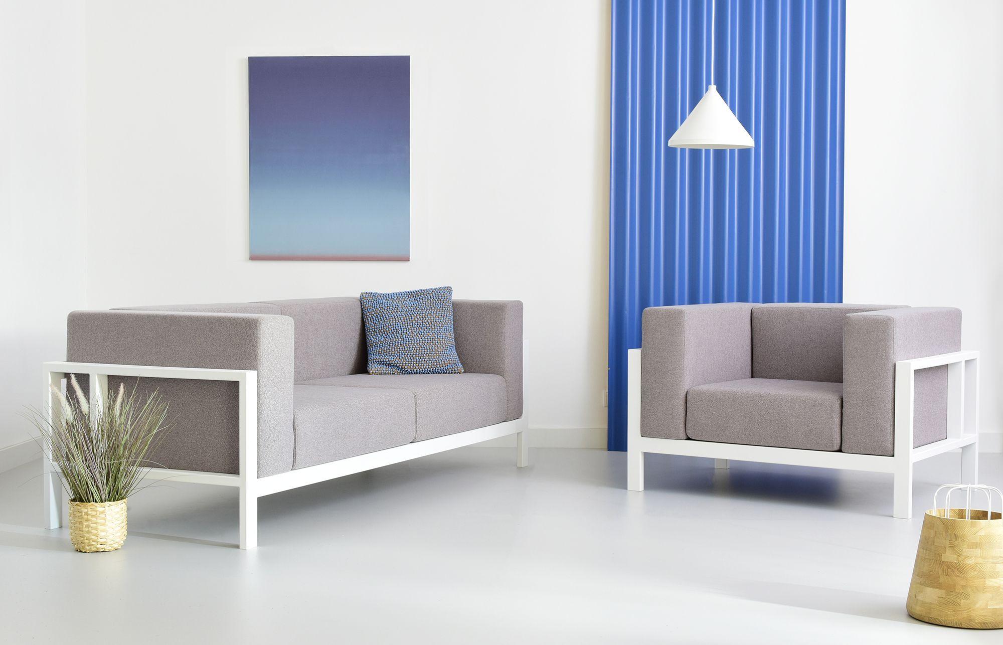 sofa stalowa loftowa industrialna