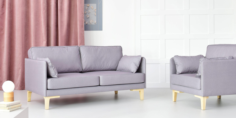 sofa szara w stylu skandynawskim nowoczesna