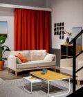 skandynawska sofa szara  osobowa fotel