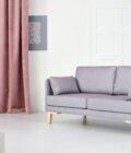 sofa w stylu skandynawskim  osobowa szara