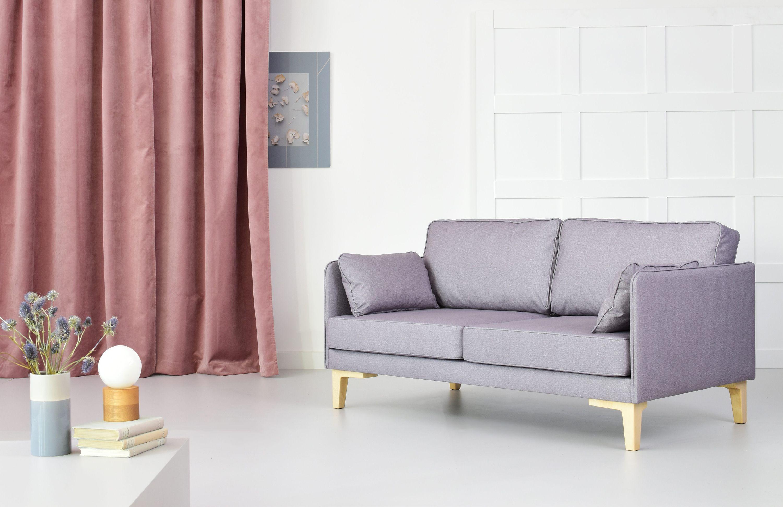 sofa w stylu skandynawskim 2 osobowa 3 osobowa szara