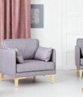 fotel szary nowoczesny w stylu skandynawskim