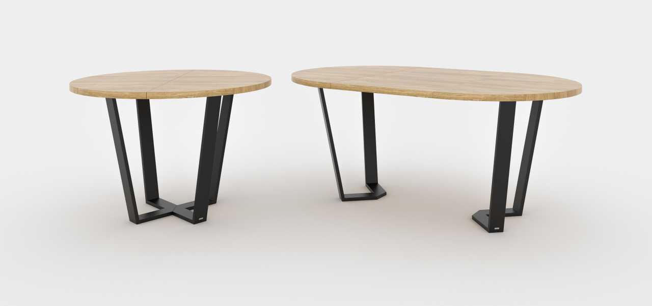 Dębowy stół w stylu skandynawskim