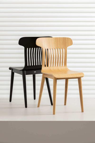 nowoczesne krzesło dębowe