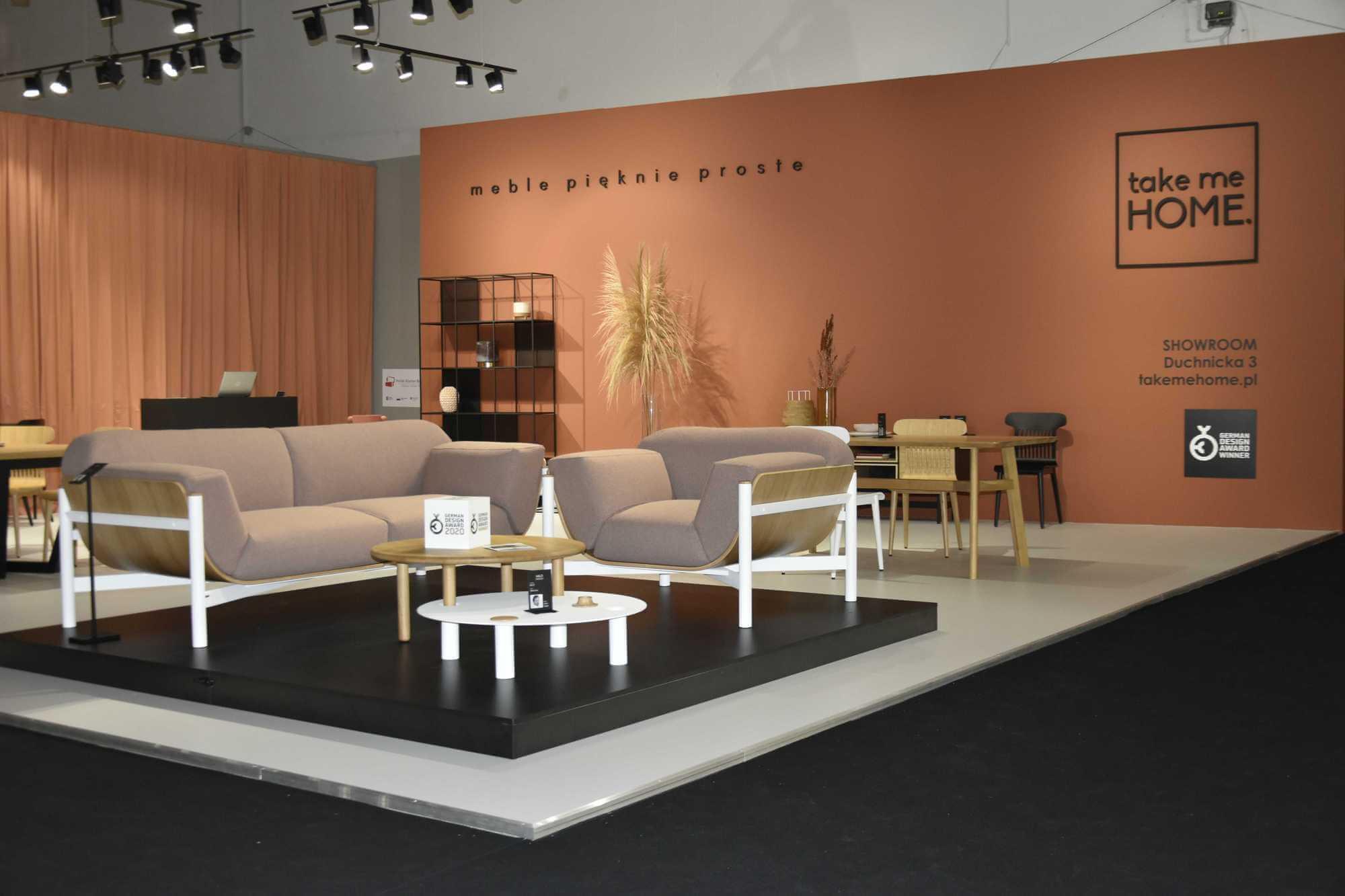zestaw okrągłych stolików w stylu skandynawskim MILO